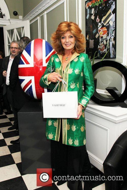 Rula Lenska attending the Faberge Big Egg Hunt...