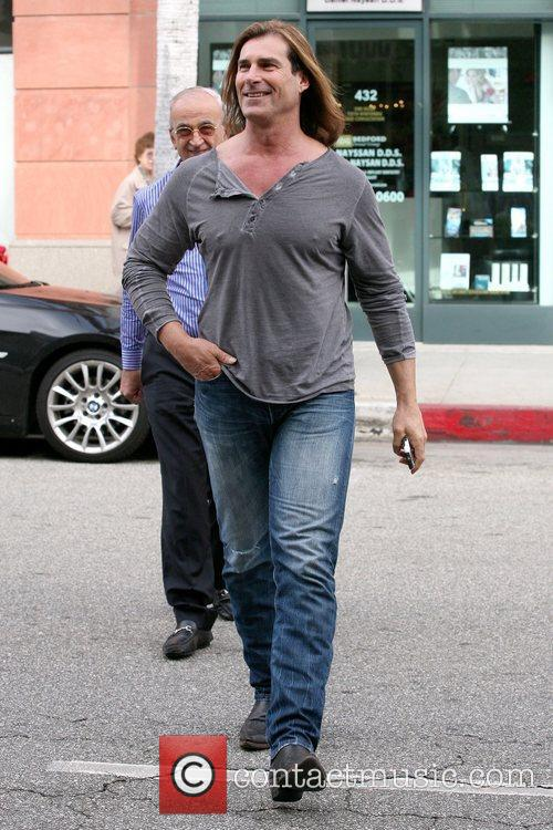 Fabio goes shopping in Beverly Hills Los Angeles,...