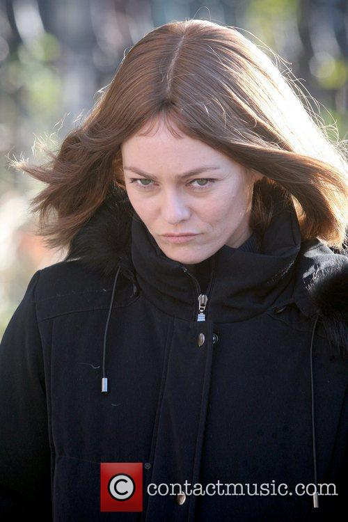 Vanessa Paradis Celebrities on the set of 'Fading...