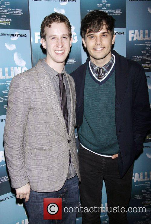 Alex Wyse and Andy Mientus Opening night after...