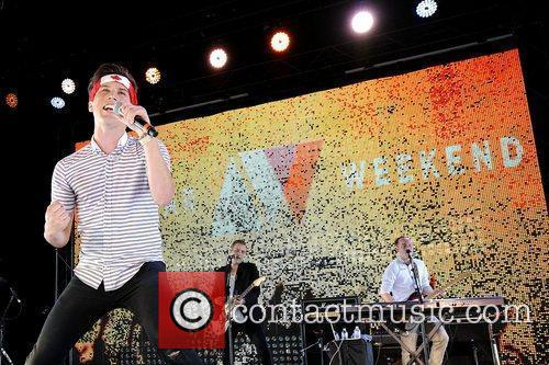 Zachary Porter   of 'Allstar Weekend' performs...