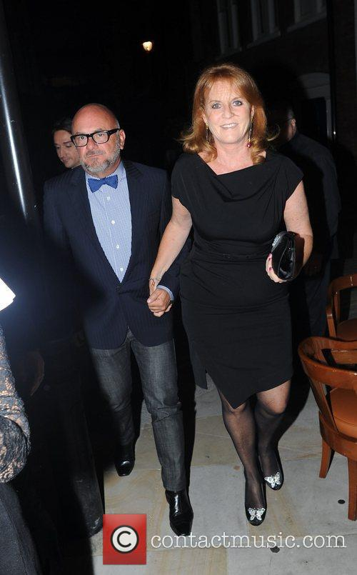 Sarah Ferguson and guest Fashion For Relief Party,...