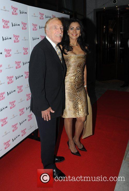 Sir Bruce Forsyth and Wilnelia Merced Forsyth Fashion...