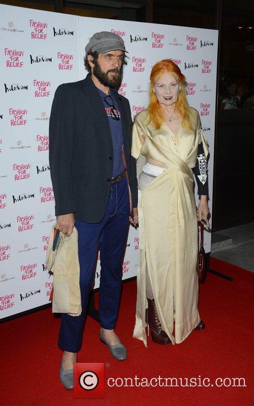 Vivienne Westwood and her boyfriend Andreas Kronthaler...