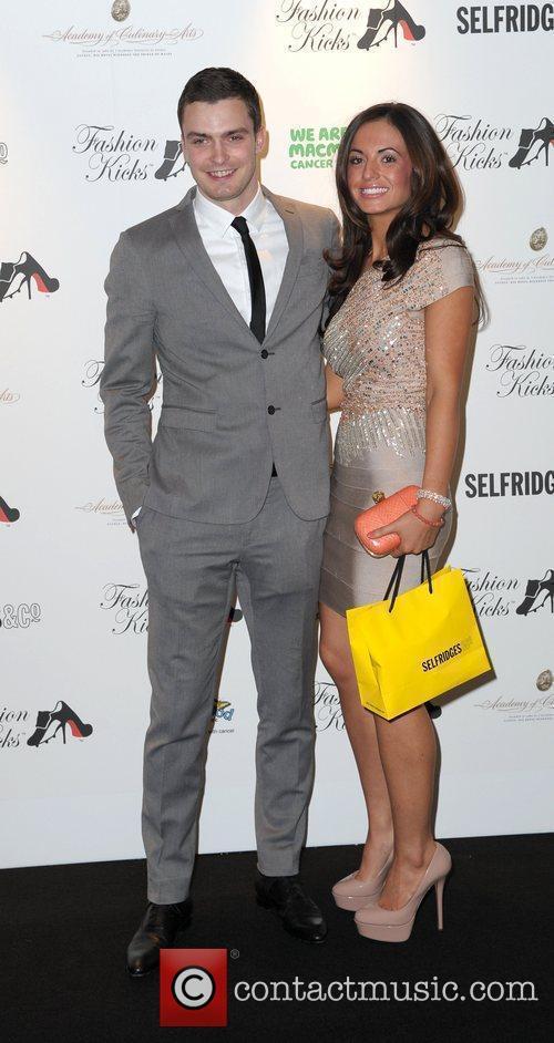 Adam Johnson and girlfriend attend Fashion Kicks at...