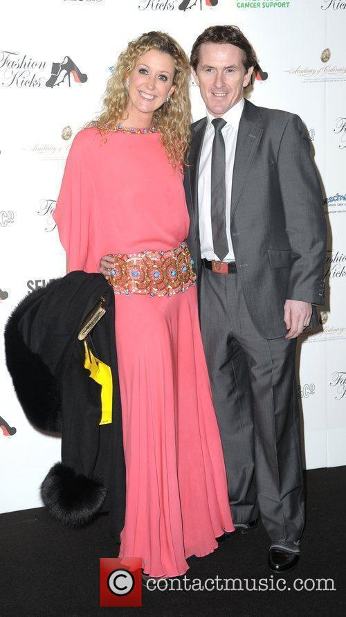 AP McCoy and wife Chanelle attend Fashion Kicks...