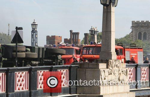Atmosphere Filming on Lambeth Bridge of 'The Fast...