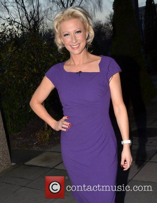 Steps singer Faye Tozer at RTE's Daily Show...