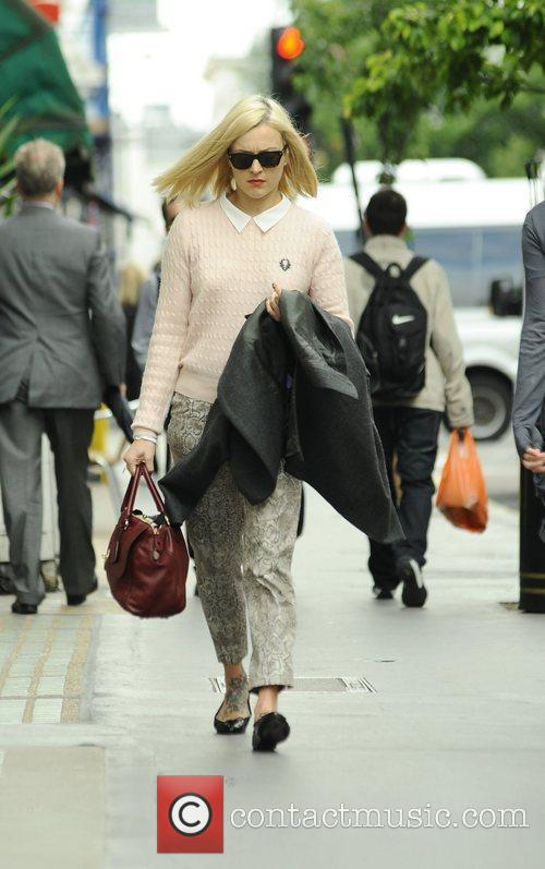 Fearne Cotton arrives at Radio 1 London, England