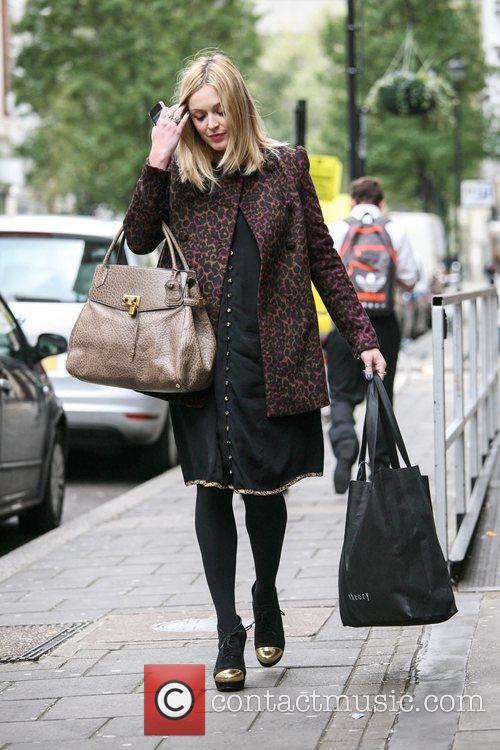 A pregnant Fearne Cotton is seen leaving BBC...