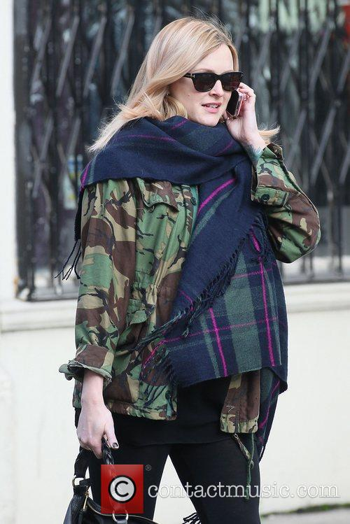Pregnant Fearne Cotton out and about in London...