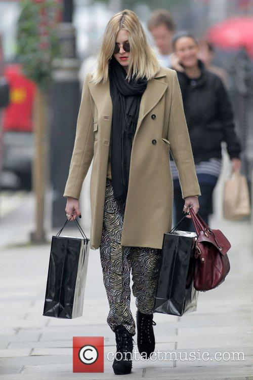 Fearne Cotton shopping in central London London, England