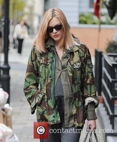 Fearne Cotton seen arriving at BBC Radio One...