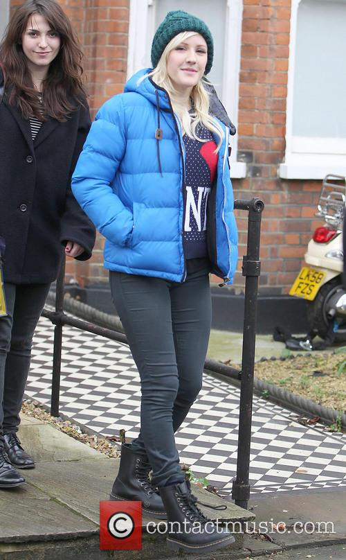 Ellie Goulding Celebrities at Fearne Cotton's house for...