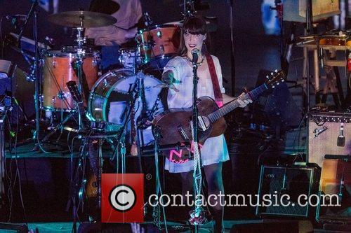 Leslie Feist performing live at Coliseu dos Recreios...