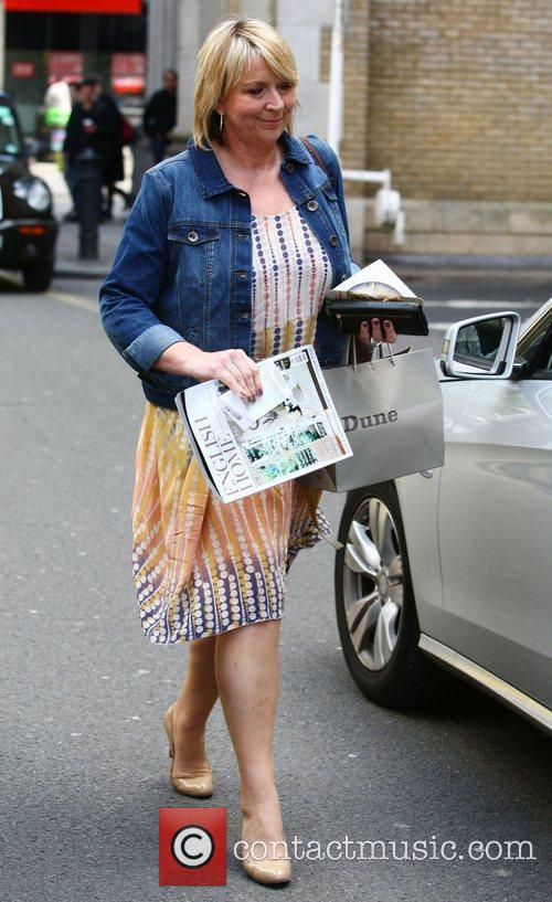 Fern Britton leaving the Channel 5 studios London,...