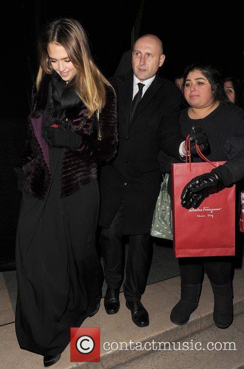 Jessica Alba leaving the Salvator Ferragamo flagship store...