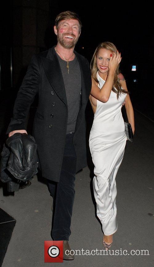 Lee Stafford and Jessica-Jane Clement,  leaving FHM's...