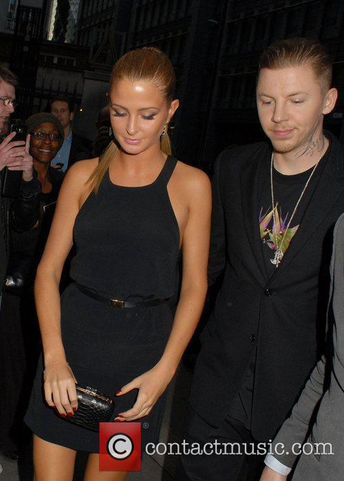 Millie Mackintosh and Professor Green,  leaving FHM's...
