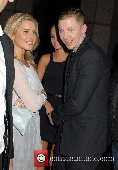 Caggie Dunlop and Professor Green,  leaving FHM's...