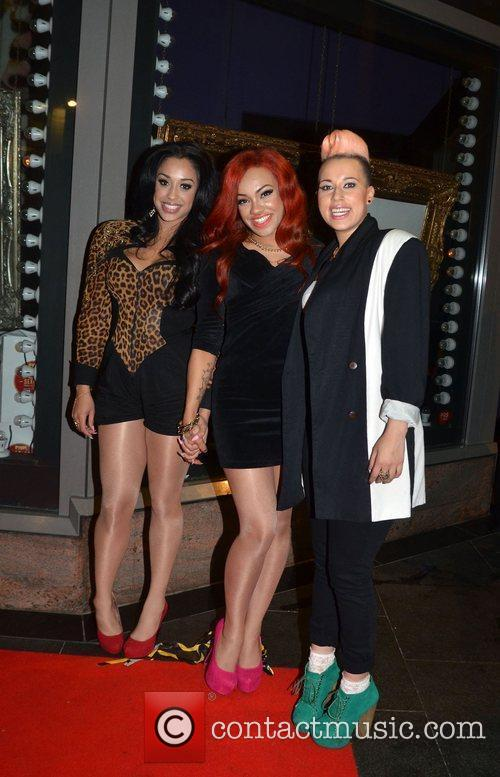 Karis Anderson, Alexandra Buggs and Courtney Rumbold of...