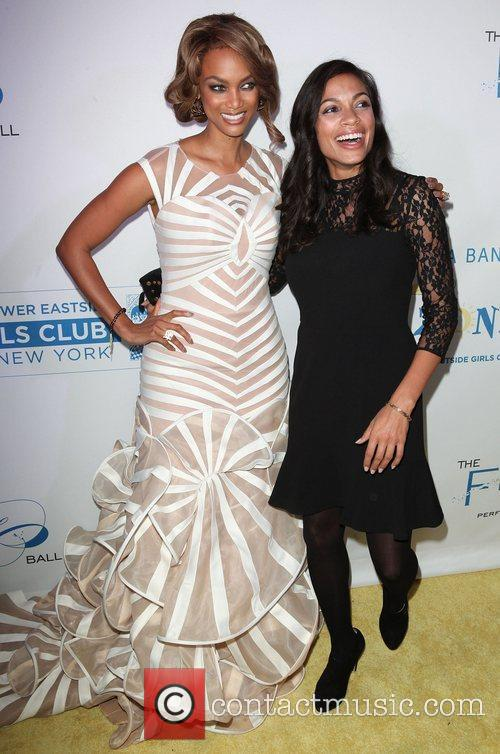 Rosario Dawson, Tyra Banks,  at The Flawsome...