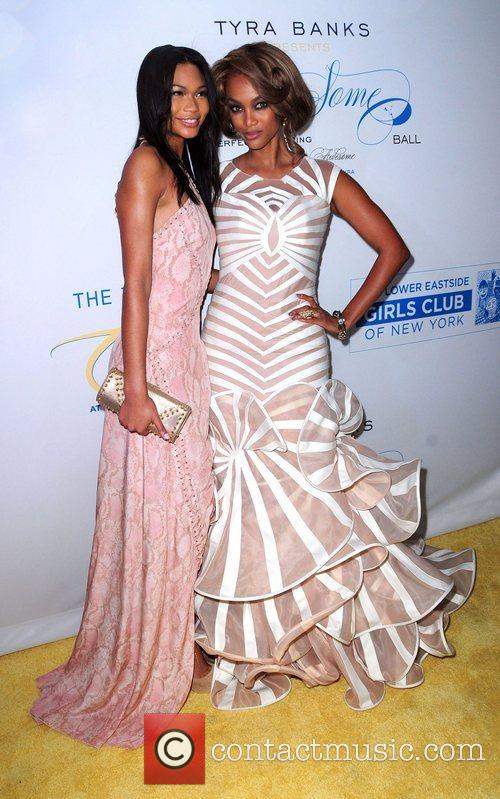 Chanel Iman and Tyra Banks The Flawsome Ball...