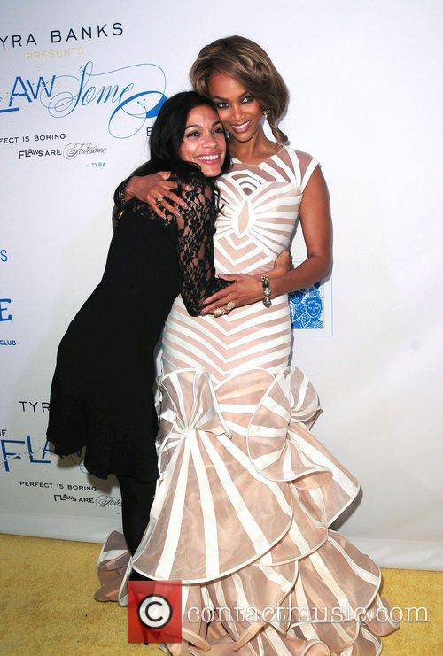 Rosario Dawson and Tyra Banks The Flawsome Ball...