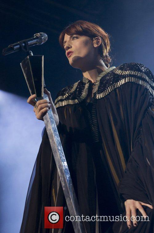 Florence Welch of Florence And The Machine performing...