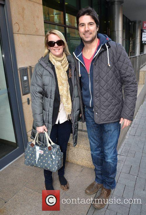 Normally dapper TV presenter Craig Doyle spotted at...