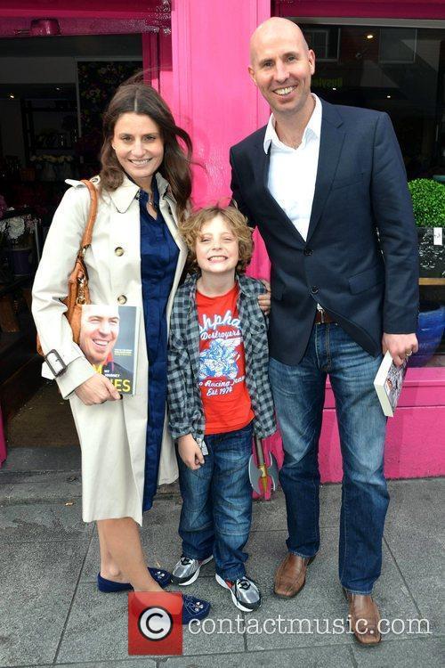 Jim Stynes' wife Samantha, son, and Tiernan The...