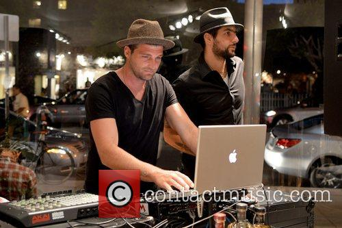 Band members from Foster the People DJing at...