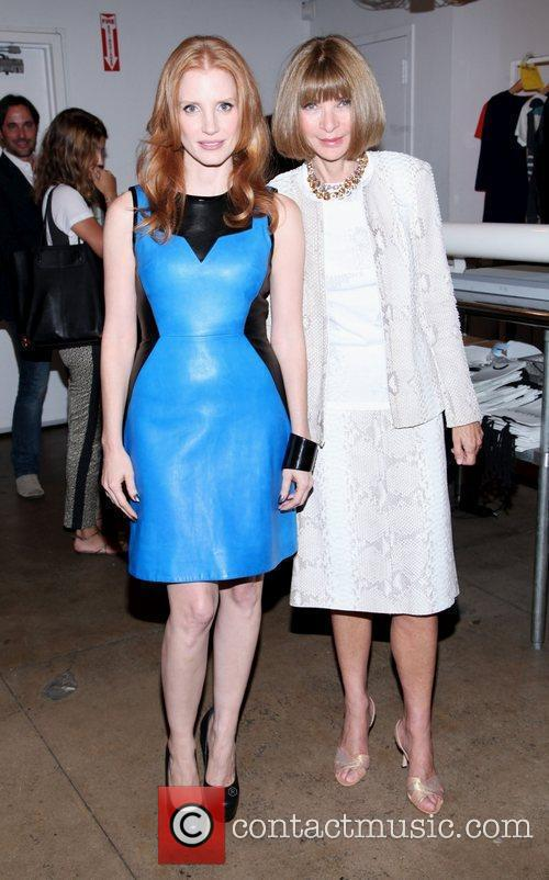 Jessica Chastain and Anna Wintour 3