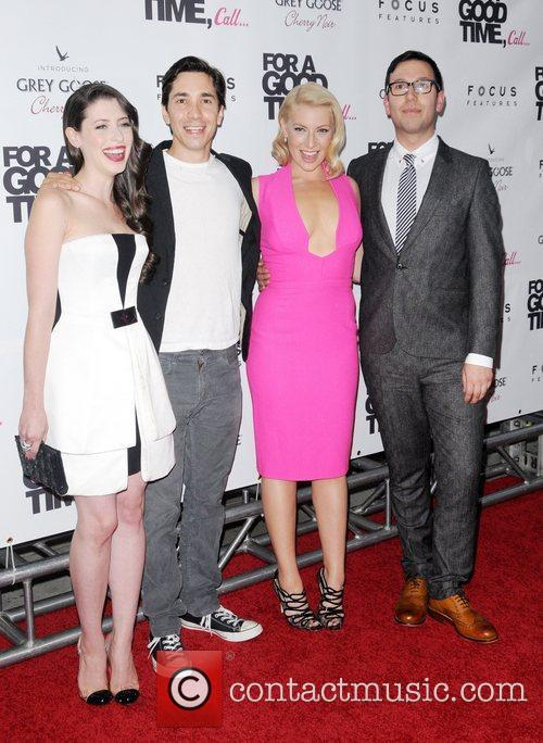 Lauren Miller, Ari Graynor, Justin Long and Travis 2