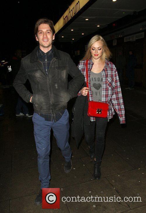 Fearne Cotton and boyfriend Jesse Wood leaving HMV...