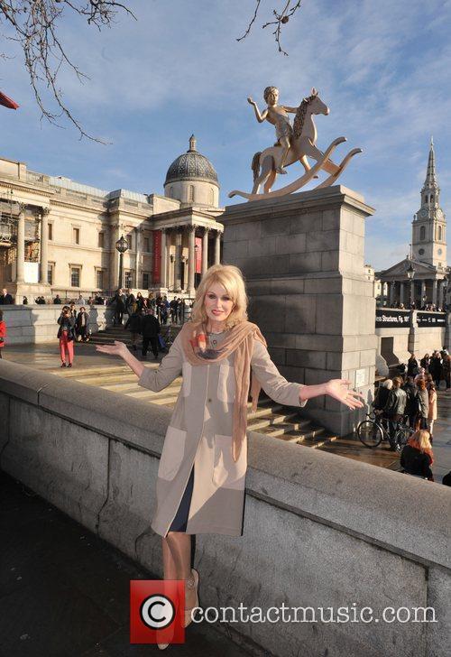 Joanna Lumley and Trafalgar Square 2