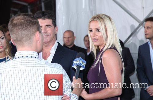 Simon Cowell and Britney Spears  2012 Fox...