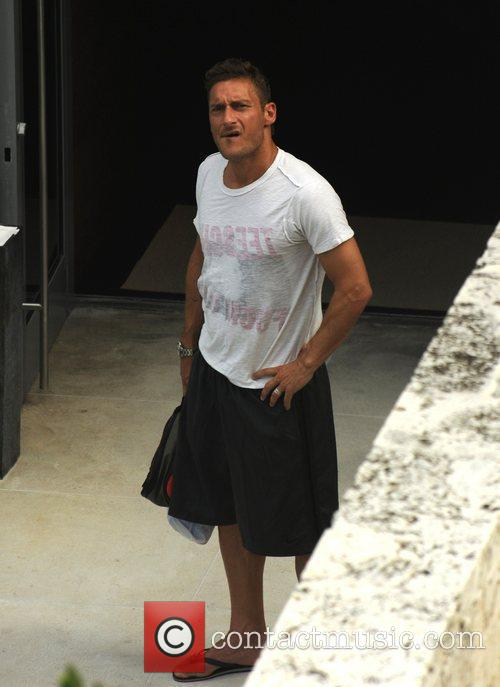 Francesco Totti on holiday Miami Beach, Florida