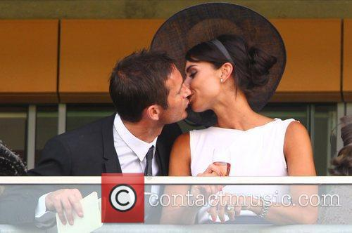 Christine Bleakley and Frank Lampard share a kiss,...