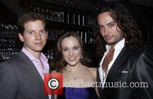 Stark Sands, Constantine Maroulis and Laura Osnes 2