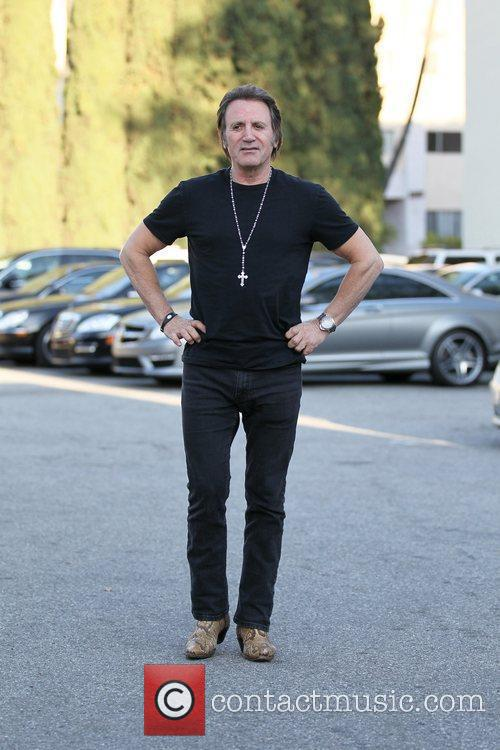 Frank Stallone exits Cafe Roma in Beverly Hills