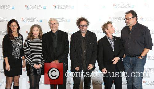 Allison Abbate, Tim Burton, Martin Landau, Catherine O'hara, Martin Short and Don Hahn 1