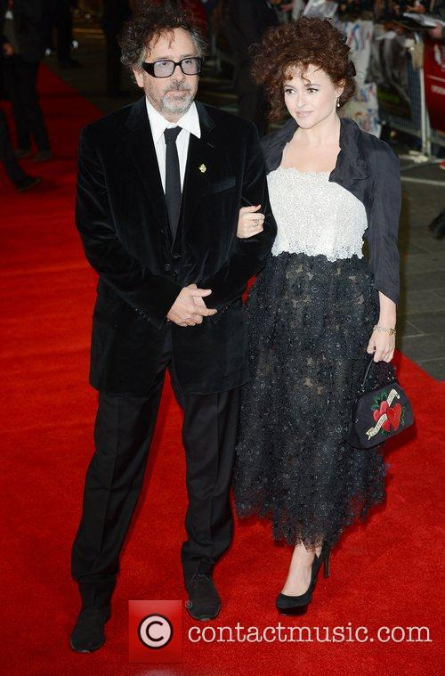 Tim Burton, Helena Bonham- Carter, Frankenweenie, Odeon, Leicester Square, London and England 3