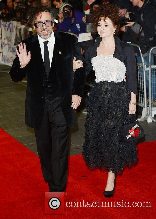 Tim Burton, Helena Bonham- Carter, Frankenweenie, Odeon, Leicester Square, London and England 5