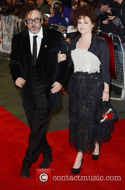 Tim Burton, Helena Bonham- Carter, Frankenweenie, Odeon, Leicester Square, London and England 2
