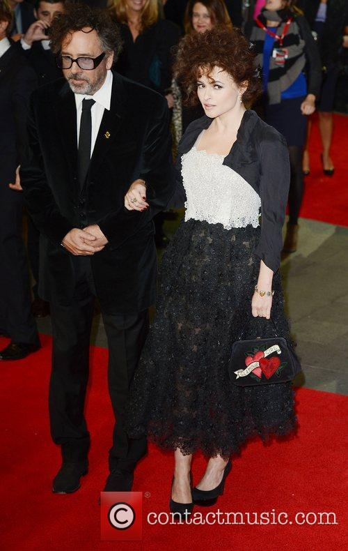 Tim Burton, Helena Bonham- Carter, Frankenweenie, Odeon, Leicester Square, London and England 4