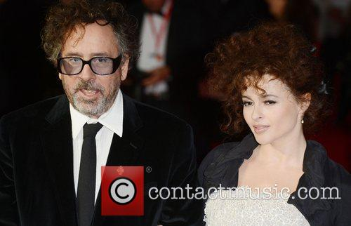 Tim Burton, Helena Bonham- Carter, Frankenweenie, Odeon, Leicester Square, London and England 1