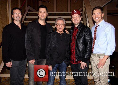 Todd Fournier, Brian Brigham, Frankie Valli, Brandon Brigham and Landon Beard