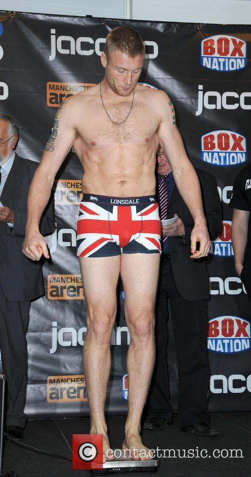 Freddie Flintoff, Boxing Weigh In