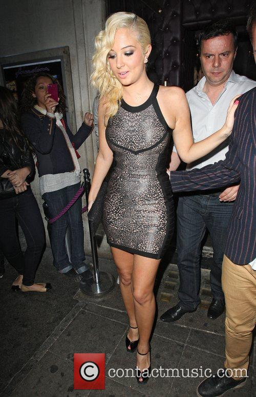 Tulisa Contostavlos  leaving the Freedom Bar in...